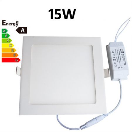 JSG Accessories® LED Square Recessed Ceiling Panel down Light Ultra-slim Lamp Ultra-Thin 15W